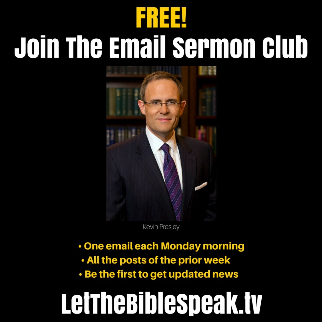 Join The Email Sermon Club