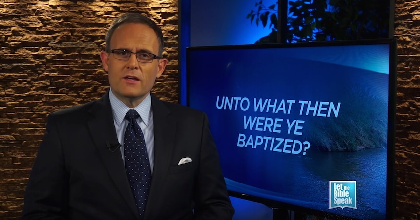 Unto What Then Were Ye Baptized?