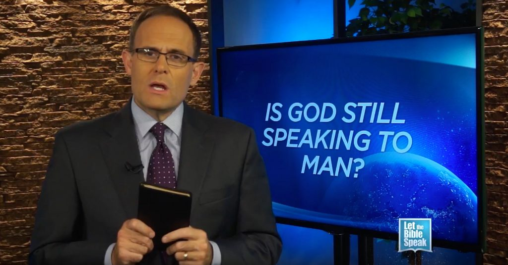 Is God Still Speaking To Man?