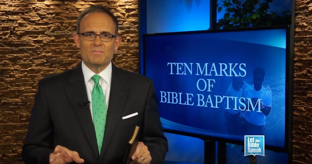 Ten Marks Of Bible Baptism