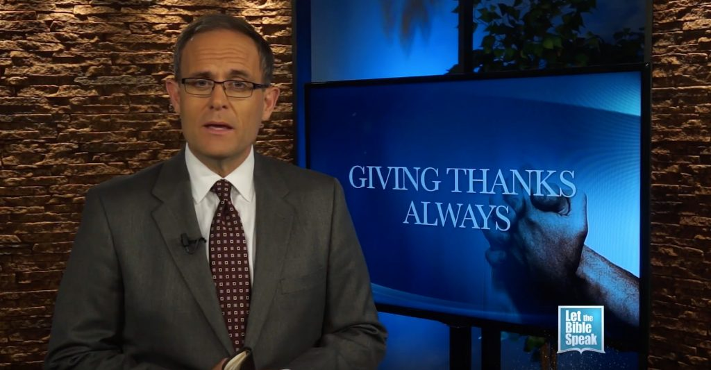 Giving Thanks Always (The Text)