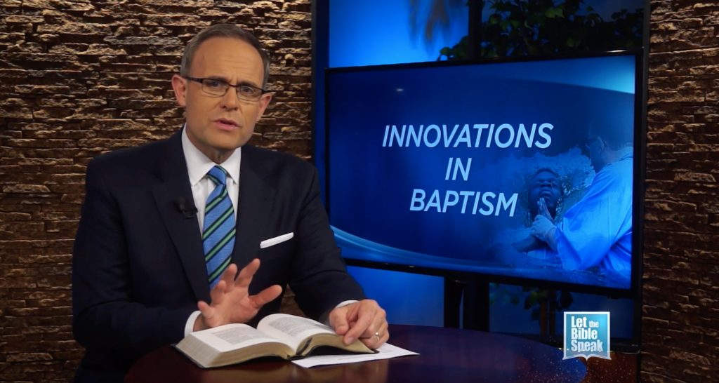 Innovations and the Divine Pattern Part 4:  Baptism