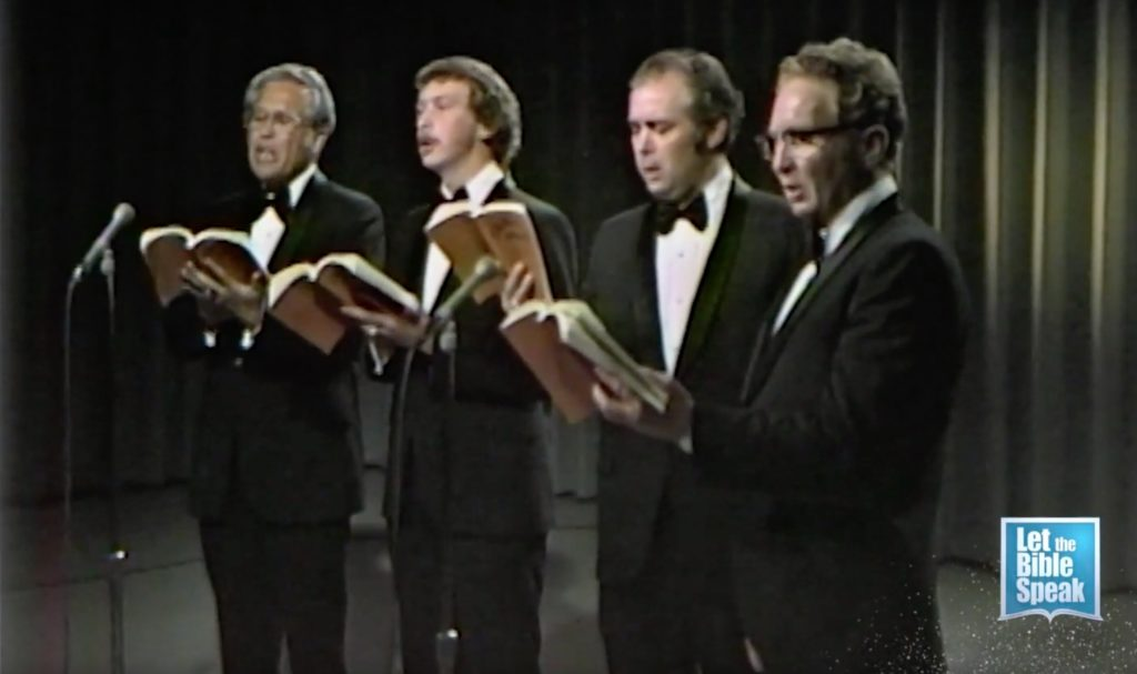 The Cook Brothers Quartet On Let The Bible Speak (1973)