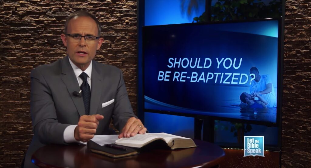 Should You Be Re-Baptized?